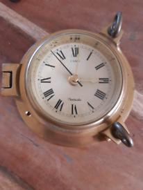 Nauticalia brass wall clock