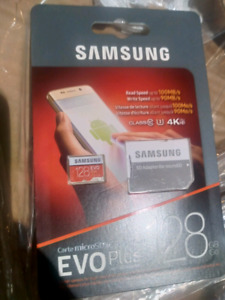 $45 for 1/ $85 for 2: Samsung EVO 128 GB MicroSD card w/ Adapter