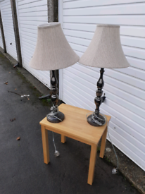 Lovely pair of table lamps