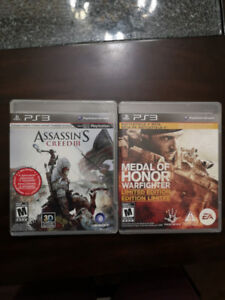 Assassin's Creed III (PS3) & Medal of Honor: Warfighter (PS3)