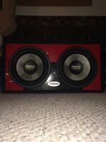 """2 12"""" clarion subs + 1000w kenwood"""