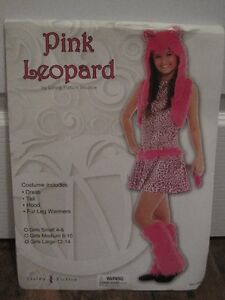 New costume! Pink Leopard (Girls Large 12-14)