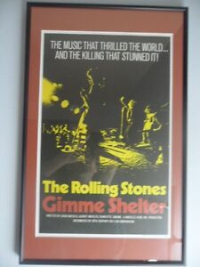 ROLLING STONES 1971 GIMME SHELTER MOVIE POSTER