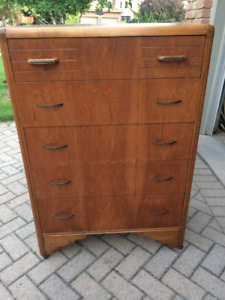 Antique Solid  Wood Tall Standing Chest