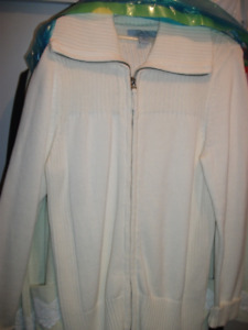 fac7adf80ac Womens Ivory zip front coat sweater