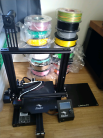 Ender creality 3D printer with 17 fillaments QUICK SALE!