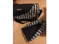 Graco baby changing bag and head cosy for car seat