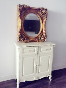 Quick sale-shoe storage, mirror and side table- last 3 days