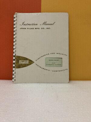 Fluke Model 803br Acdc Differential Voltmeter Instruction Manual