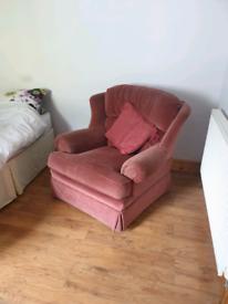 Velveteen armchairs