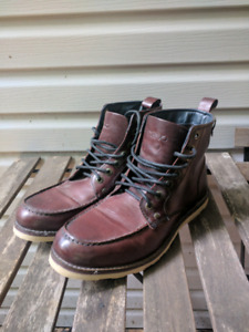 Brand new maroon leather boots. Sized 12 mens.