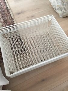 IKEA PAX white baskets