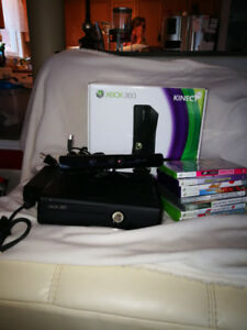 Xbox 360 with connect and games bundle