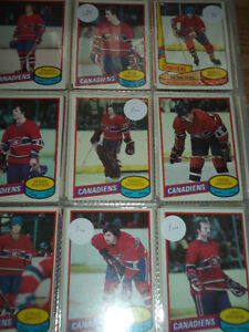 A VENDRE cartes de hockey des Canadiens de Montreal