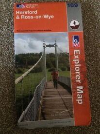 Hereford and Ross on wye map