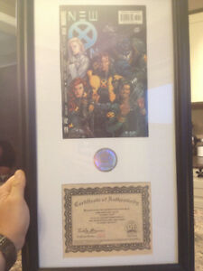 Framed New X-Men #130, Signed, Limited Edition