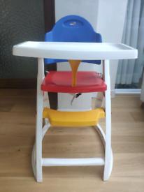 High chair, highchair. Kids children chair