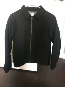 BOYS WOOL JACKET-SIZE LARGE- HARDLY WORN-ALMOST NEW!