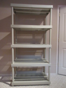 HARD PLASTIC SHELVING