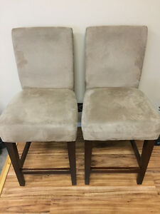 Two bar height chairs