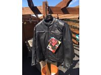 Motorcycle Leather Jacket ( brand new) XL
