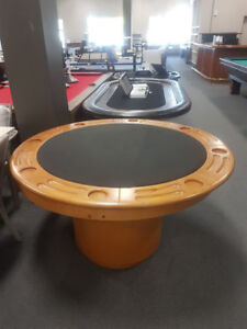 Round Poker table set with 4 chairs