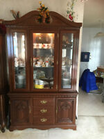 china cabinet on buffet for sale
