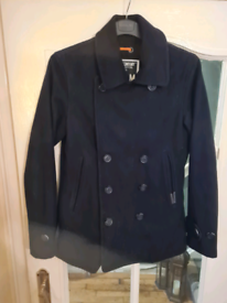 Superdry Navy Commodity edition wool Peacoat Jacket Military - M slim