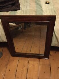 Solid hard wood mirror