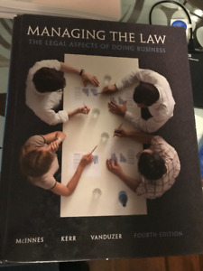 Managing the Law Textbook