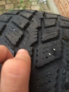 225/60/r16 winter tires (set of 4) for sale used for 1 winter  London Ontario image 4