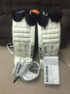 Goalie gear for sale -pads plus blocker and trapper