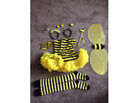 Ladies Bumble Bee Halloween Fancy Dress Costume S/M