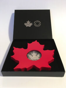 2015 $20 Canada .9999 Canadian Silver Maple Leaf Shaped Coin