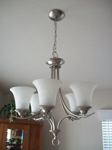 light fixtures from bathroom, kitchen and dining room