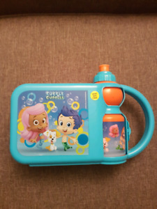 Bubble Guppies lunch box with water bottle