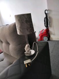 Velvet silver table lamp