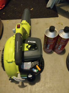 Ryobi 26cc 2 Cycle Gas Blower with 1.5 cans Trufuel gas