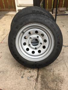 Carlisle boat trailer tires and rims