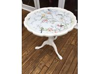 Shabby chic side table Annie Sloan birds