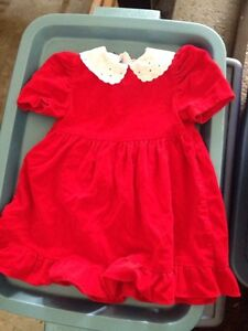 Bright red vintage dress size 2T