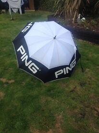Golf umbrella ping