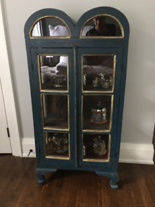 Indonesian Style Blue Cabinet