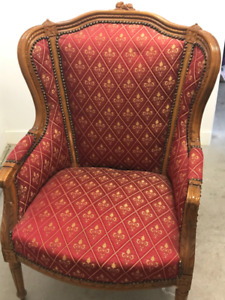 Set of 2 Antique Wing Back Chairs