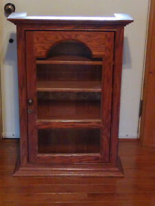 Handcrafted Solid Oak Cabinet-with lock and skeleton key
