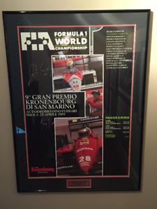 Ayrton Senna Signed 89 San Marino Grand Prix Poster