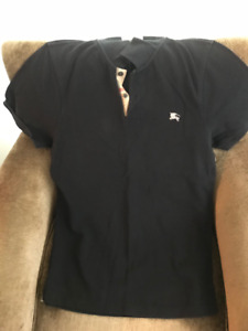 WOMENS LARGE BURBERRY POLO