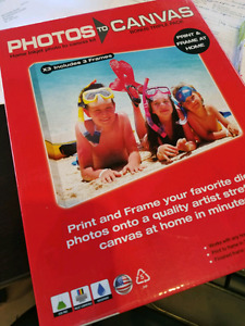 Photo to canvas printing and framing system - 5 boxes