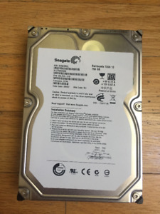 "Seagate Barracuda 750GB 7200.12Internal 7200RPM 3.5"" ST3750528"