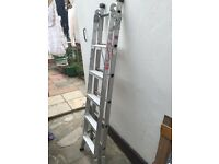 Double 10 step aluminium ladder
